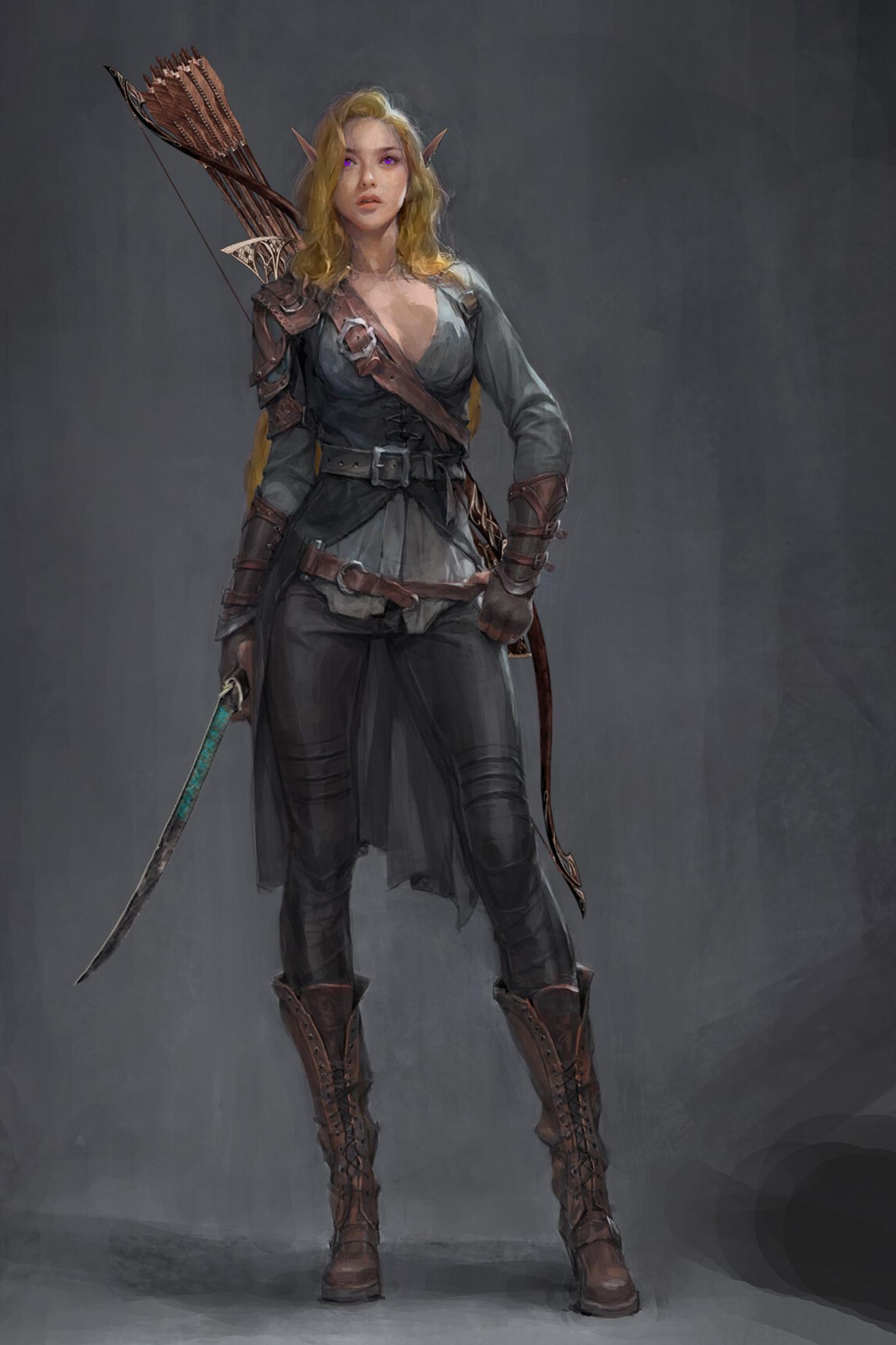 Photo of Szil  (Shen Lumina) – Female elf archer / hunter