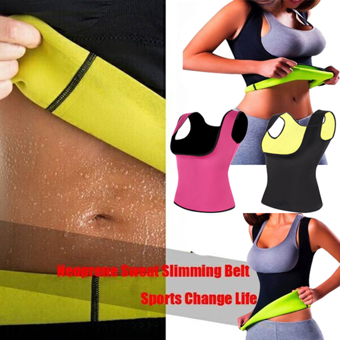 f2f331661eca9 Sweat Sauna Body Shaper Women Slimming Vest Thermo Neoprene Waist Trainer  GZDL