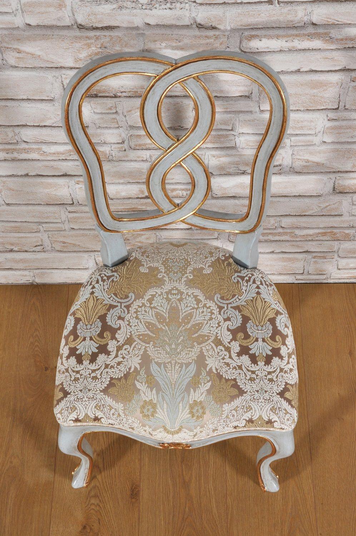 Sedia intrecciata e intagliata ad 8 in stile \'700 barocco veneziano ...