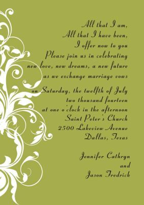 Wedding Invitation Text