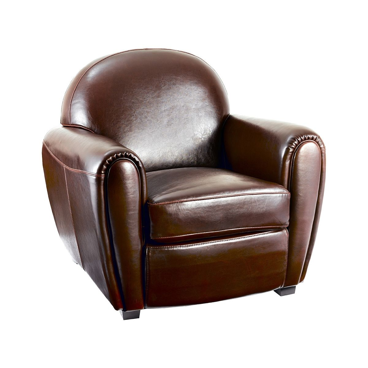 beautiful fauteuil club marron en crote de cuir maya with bureau style anglais. Black Bedroom Furniture Sets. Home Design Ideas