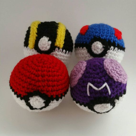 Amigurumi Master Ball : Pokemon Master Ball Ultra Ball Great Ball and by ...