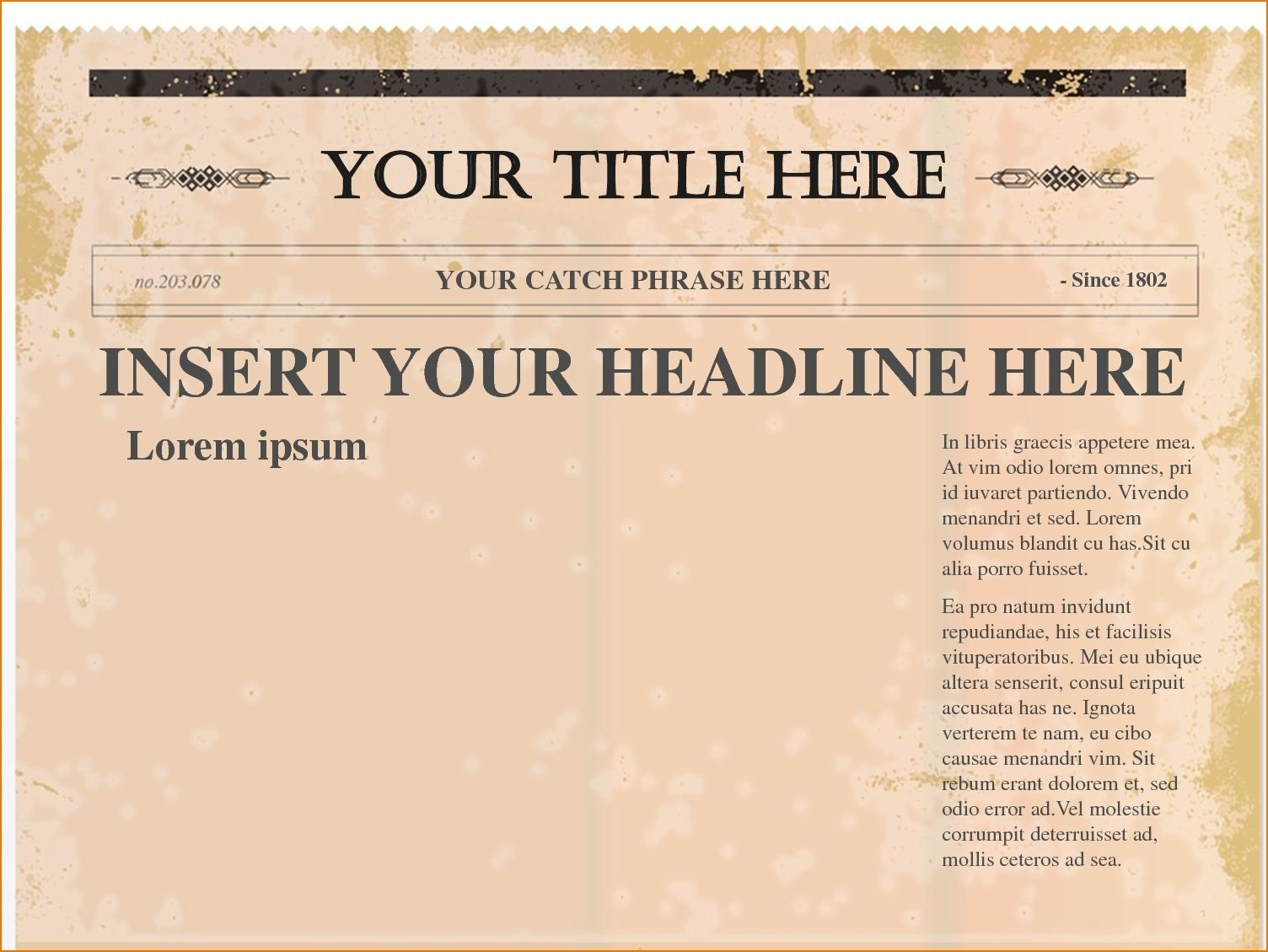 newspaper article template for powerpoint