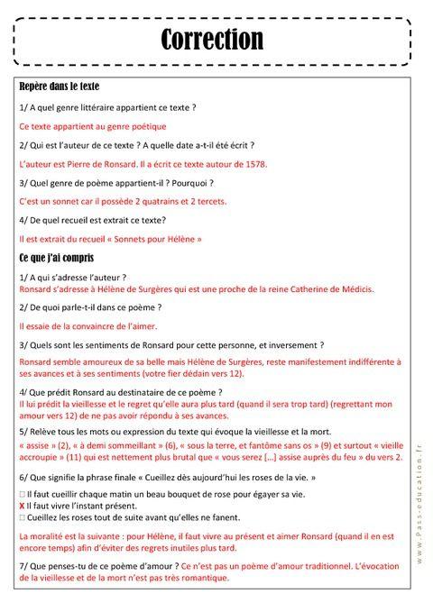 C Est Quoi Un Genre Littéraire : genre, littéraire, PIerre, RONSARD, Sonnet, Hélène, Genre, Littéraire,, Ronsard,, Malade, Imaginaire
