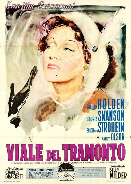 "Movie Posters:Film Noir, Sunset Boulevard (Paramount, 1950). Italian 4 - Fogli (55"" X 78"")Ercole Brini Artwork.. ..."