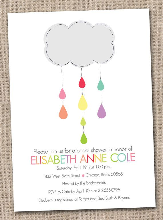 Colorful grey cloud and raindrops invitation ink obsession designs colorful grey cloud and raindrops invitation ink obsession designs via etsy filmwisefo