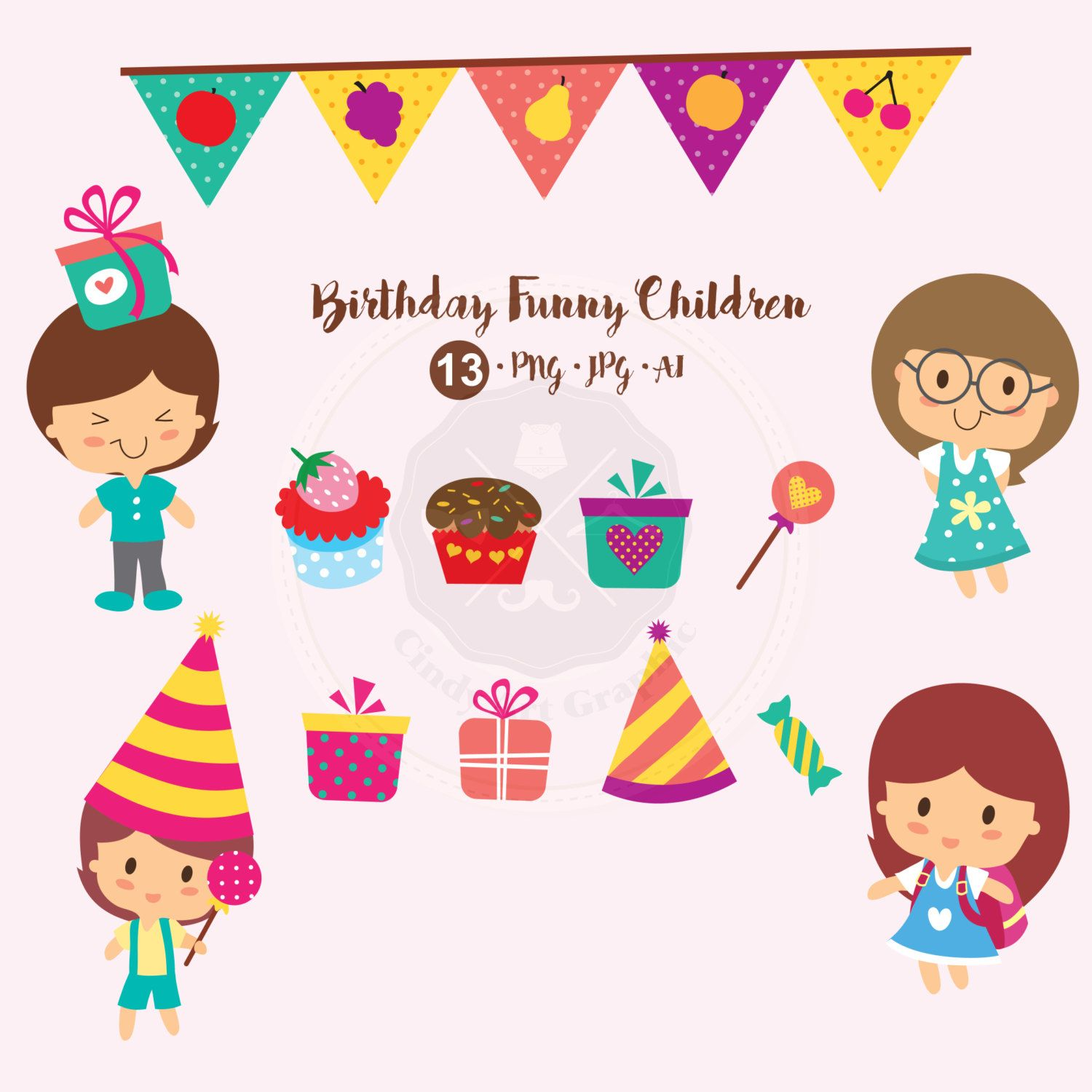 Birthday Funny Children Clipart birthdayf clipart kid clipart