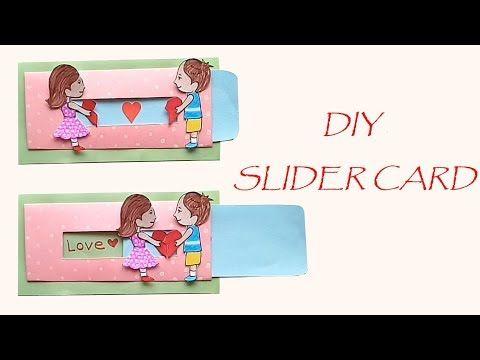 Diy Love Slider Card How To Make Love Card Youtube Slider Cards Birthday Cards Diy Cute Valentines Card