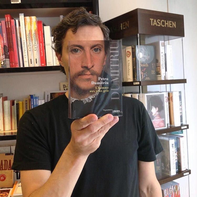 French Bookstore Seamlessly Blends People S Faces With Book Covers Funny Pictures Cool Photo Effects Creative Photos