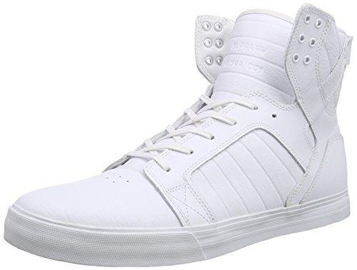 Supra SKYTOP, Unisex-Erwachsene Hohe Sneakers, Weiß (WHITE/WHITE/RED