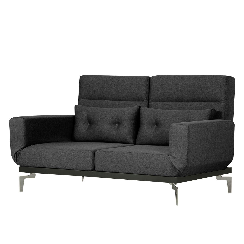 Chesterfield sofa stoff  Schlafsofa Robertson Webstoff - Stoff Parsa Grau-Schwarz, Studio ...