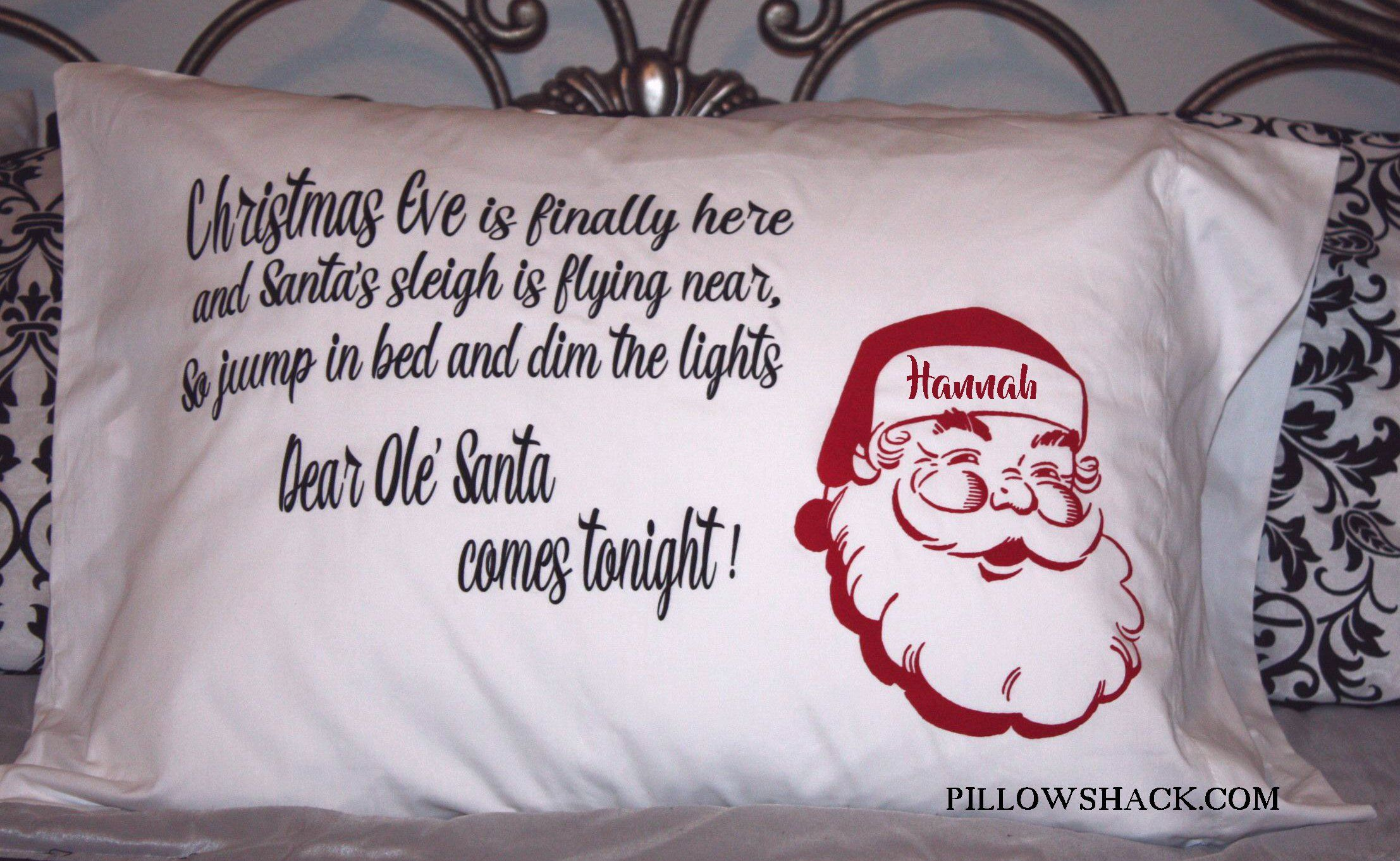Personalized Christmas Pillowcase Great for making Christmas