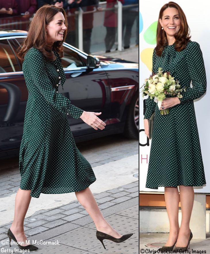 57dd023422240f 12 11 2018 Evelina Children s Hospital - Kate wore LK Bennett s  Mortimer   dress. It is 100% silk and features princess seaming