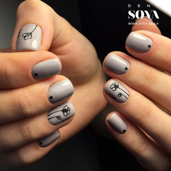 37 Super Easy Nail Design Ideas For Short Nails Simple Nails Short Nail Designs Short Gel Nails