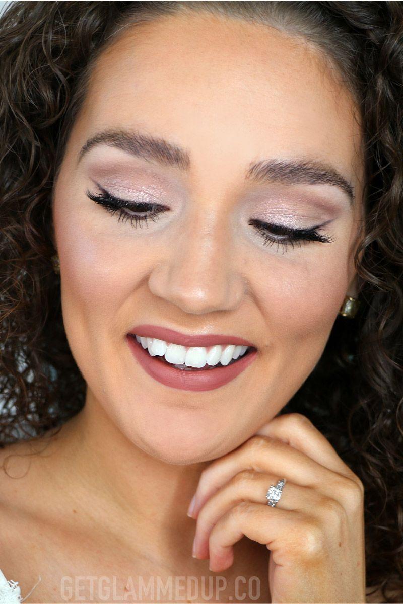 Soft Glam Bridal Makeup for hooded eyes, rose gold wedding
