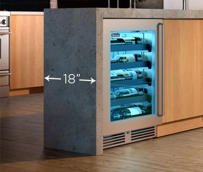 Lovely Shallow Depth Bar Refrigerator
