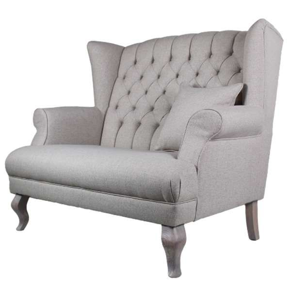 Good Landhaus Sofa Sessel JOLY Couch 2 Sitzer Einzelsofa Sofagarnitur Polstersofa Pictures Gallery