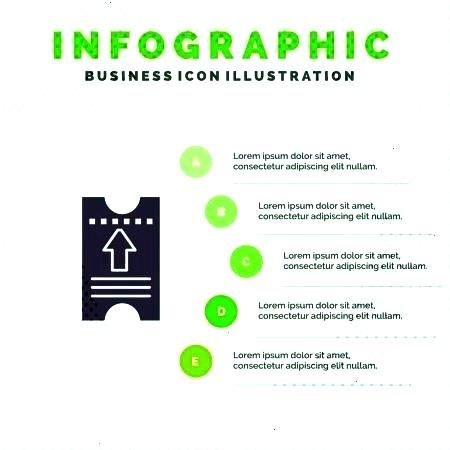 Hotel, Arrow Infographics Presentation Template. 5 - Stock ,Ticket, Pass, Hotel, Arrow Infographics