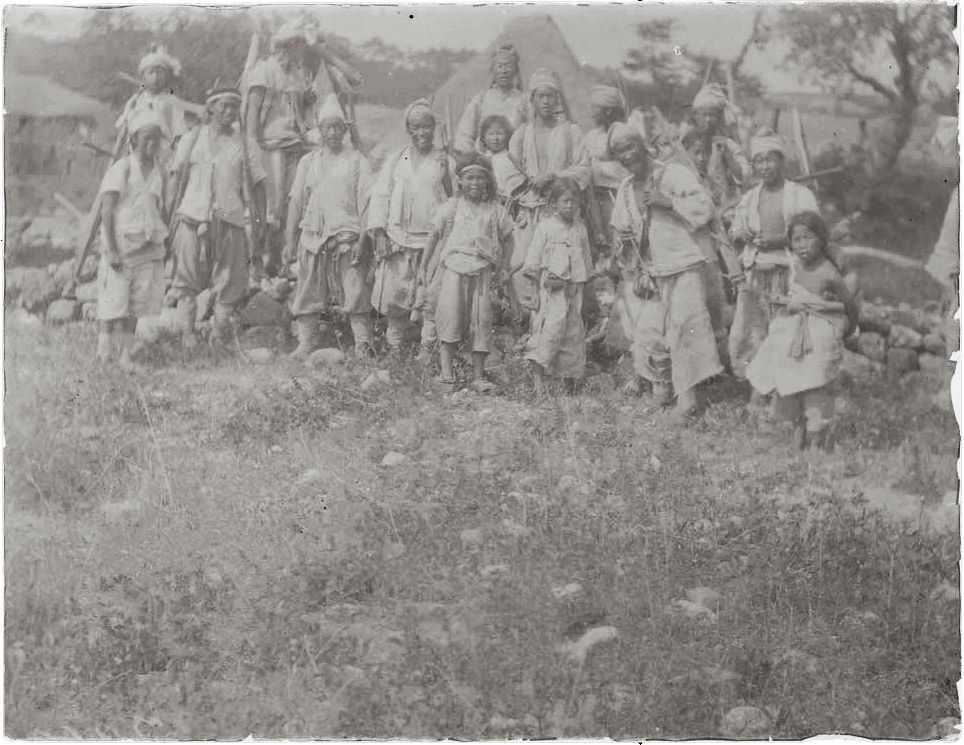 Working men and boys by stone wall. ca. 1890, Natl Anthropological Archives SIRIS