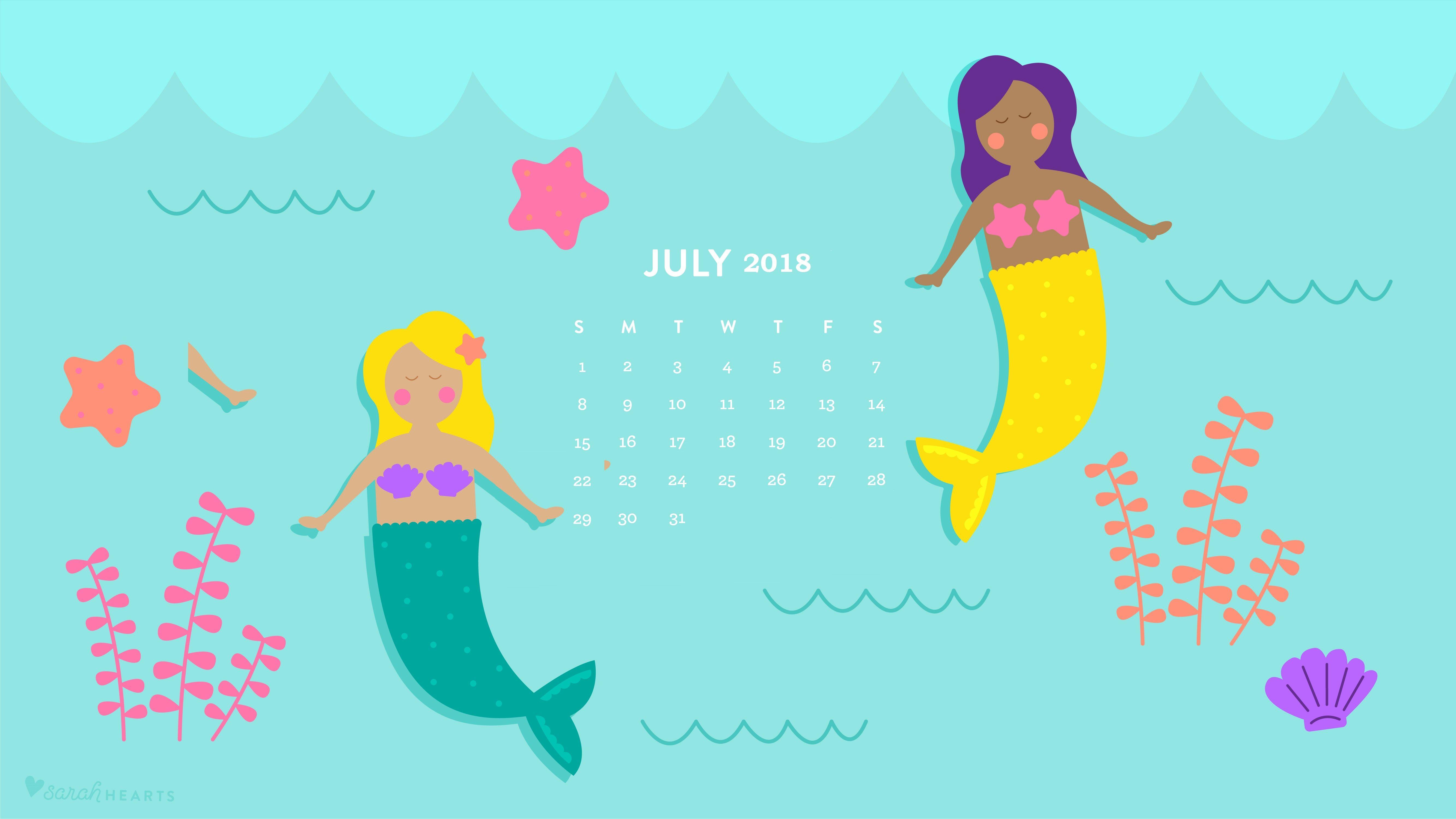 july 2018 desktop calendar for kids maxcalendars pinterest