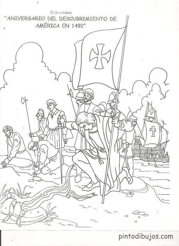 Dibujos de Cristobal Colón para colorear | Cristobal colón ...