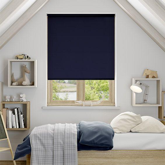 Blackout Bedroom Blinds Amazing Sevilla Dark Blue Blackout Roller Blind  Bedroom Blinds Dressing Review