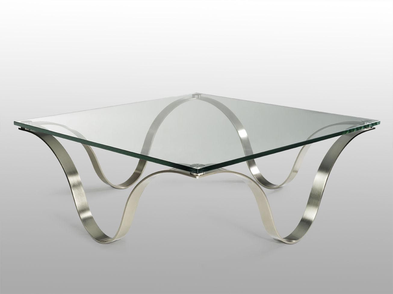 Glass and Steel Coffee Table Coffee Tables Pinterest
