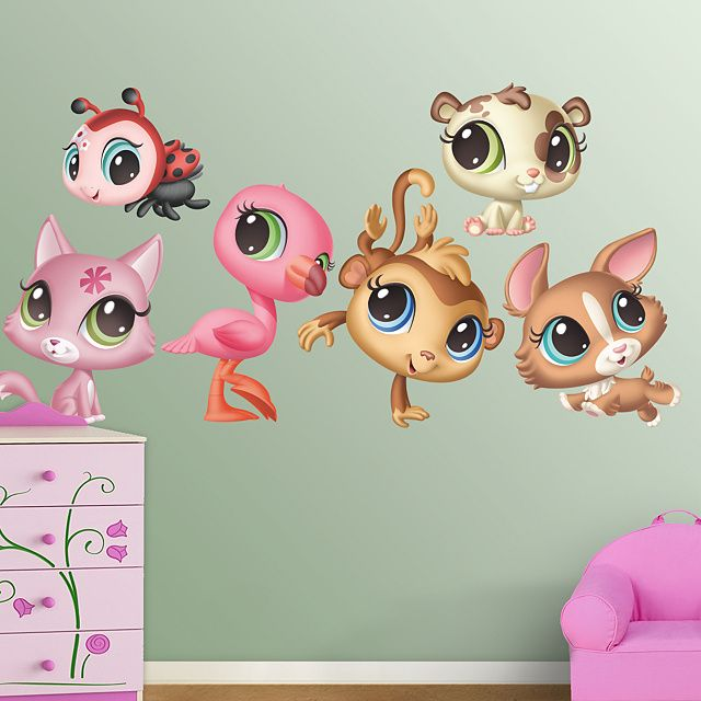 Hasbro Littlest Pet Shop Wall Decal, Pink Photo