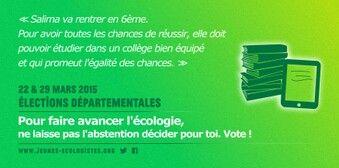 L'éducation et les départementales. Pour le progrès social, pour un futur meilleur, votez !