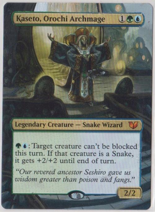 Snake Wizard Mythic KASETO OROCHI ARCHMAGE NM mtg Commander 2015 Gold
