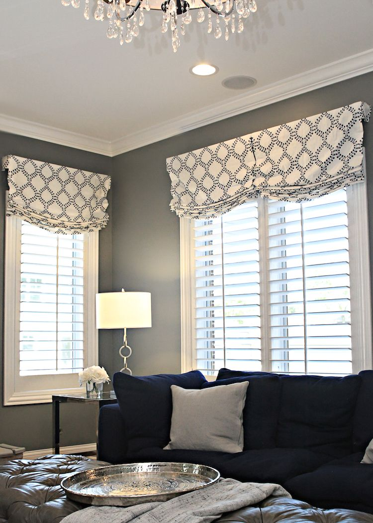 Before After Family Room For 5 Window Treatments Living Room Living Room Drapes Valances For Living Room