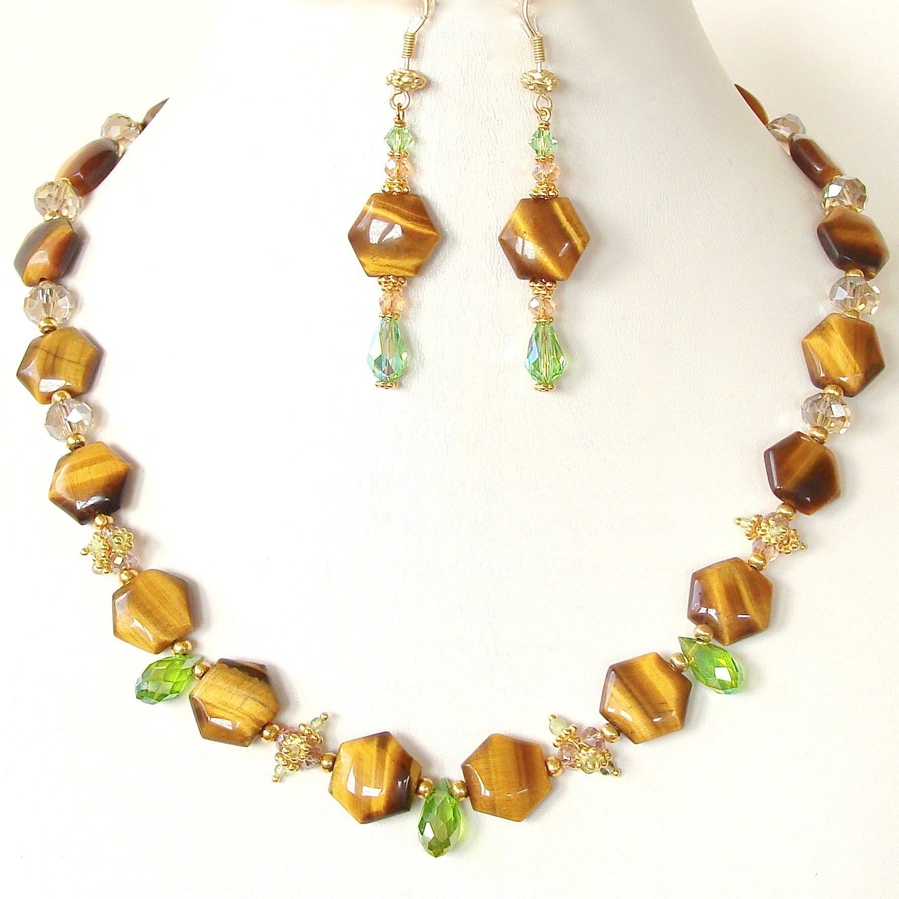 Cassandra: Gemini Gemstone Necklace Set