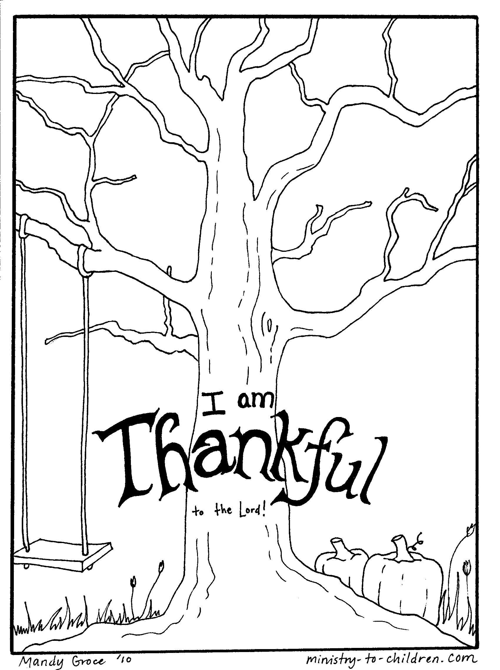 thanksgiving coloring page Sunday