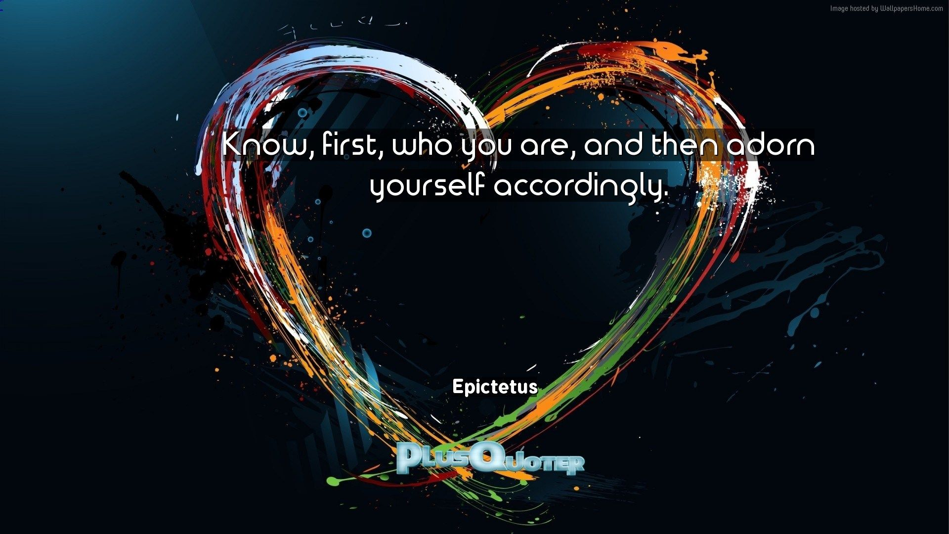 "Download Wallpaper with inspirational Quotes ""Know first who you"