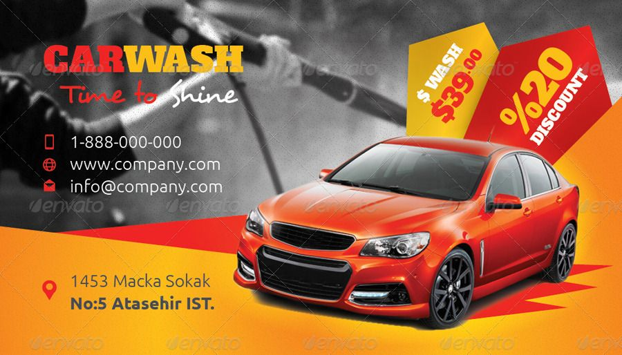 Car Wash Business Card Templates Car Wash Business Car Wash Car Detailing