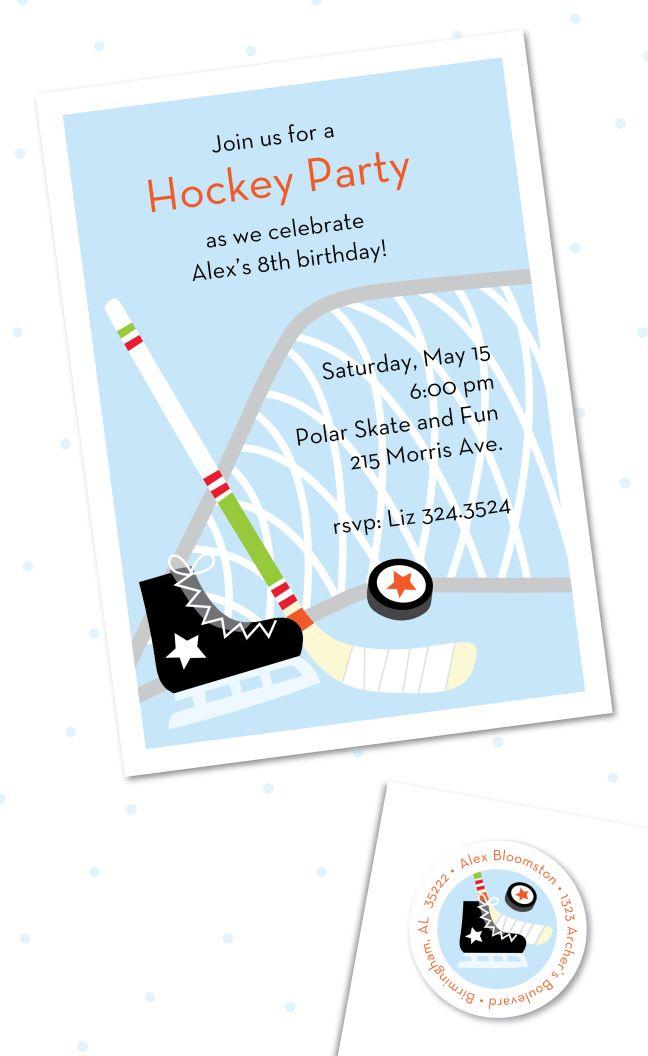 Hockey Birthday Invitations