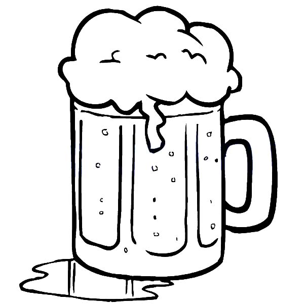 Beer Spill On Table Coloring Pages Best Place To Color Coloring Pages Coloring For Kids Color