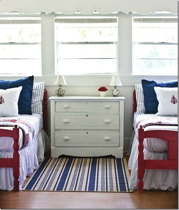 Inspirational Red White and Blue Bedroom