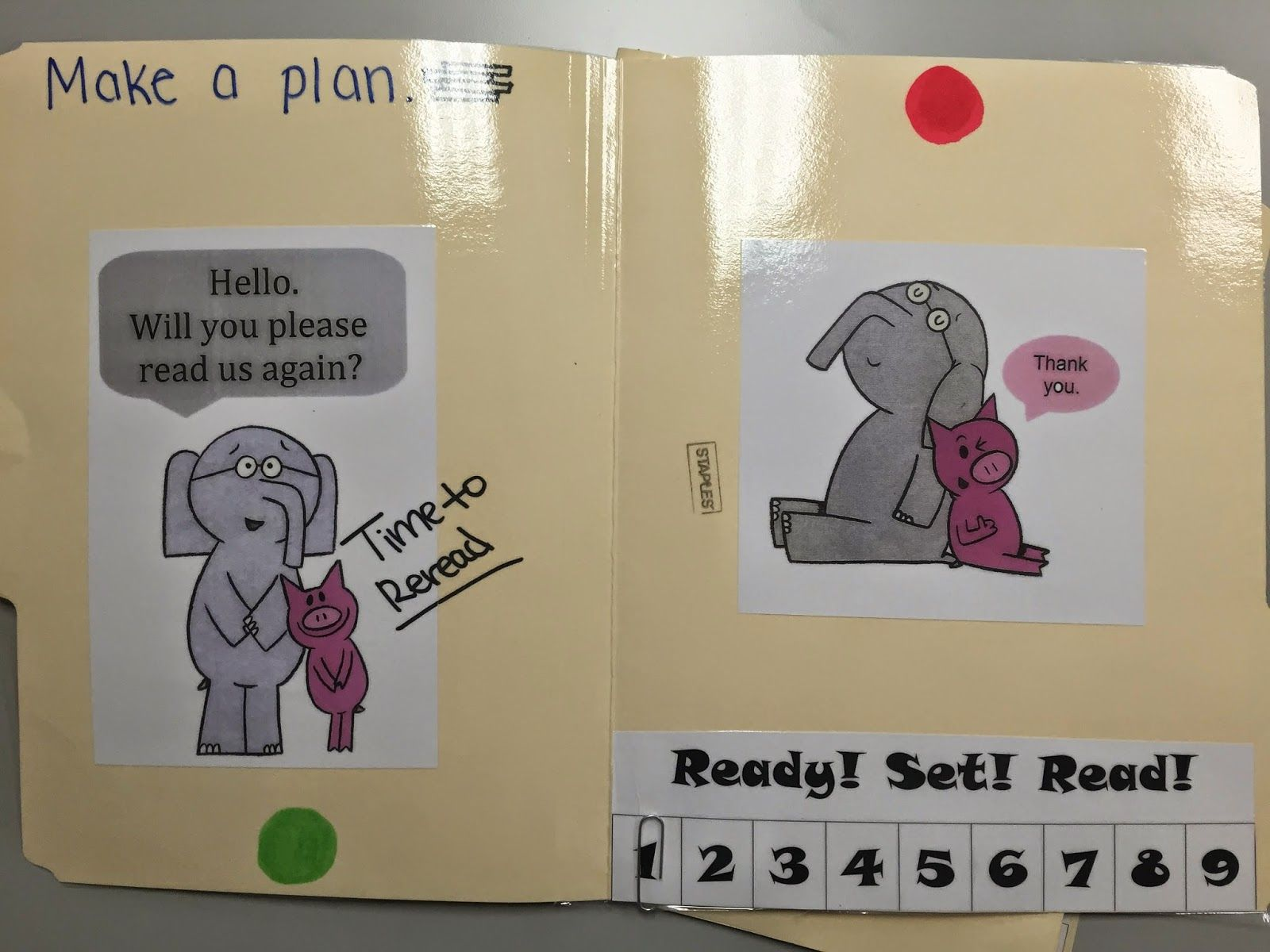 So I finally finished my reading mats - an idea that I received ...