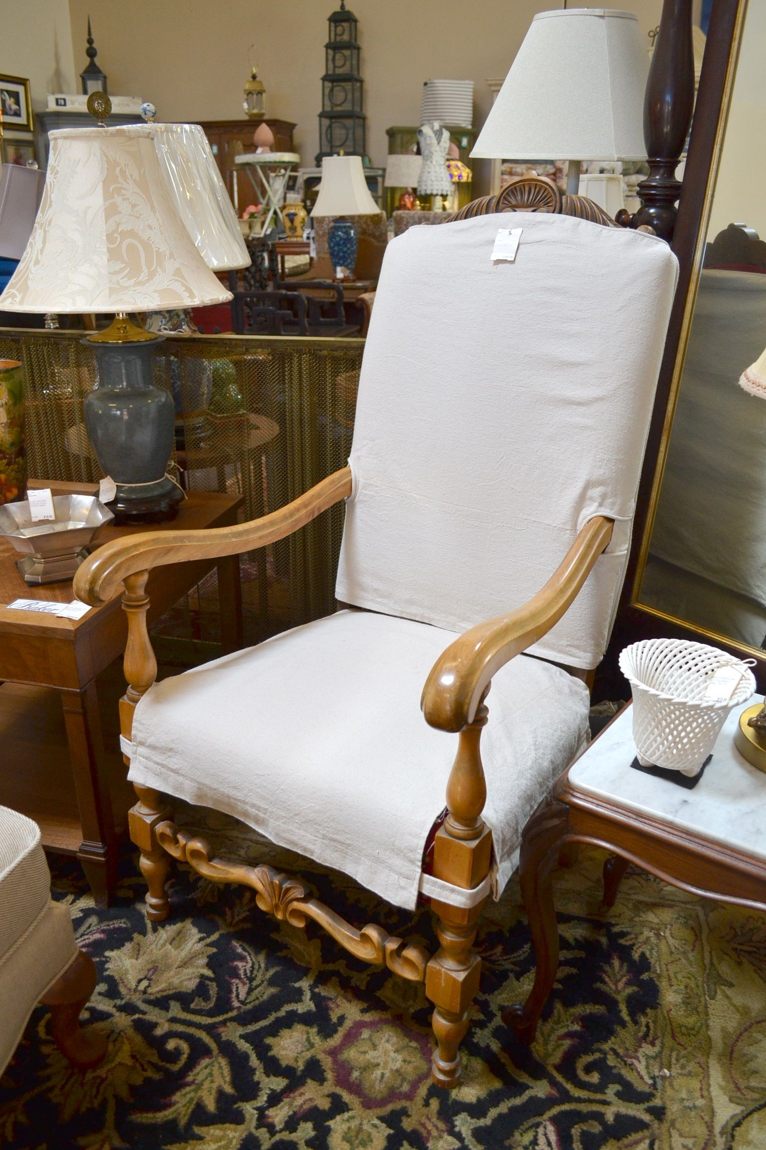 Vintage Maple King Chair French chairs Pinterest