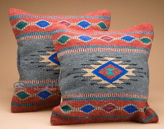 Southwestern Pair of Pillow Covers 18x18 - Chaco