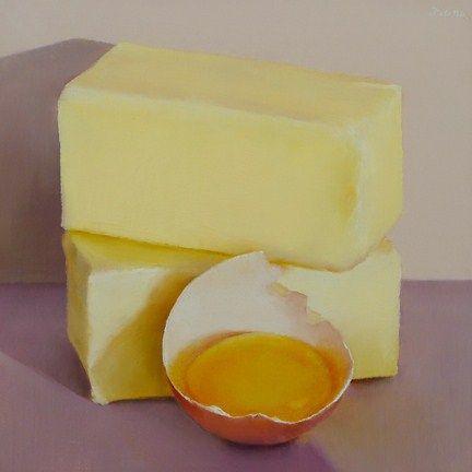 """Yolk and Butter"" - Original Fine Art for Sale - © Oriana Kacicek"