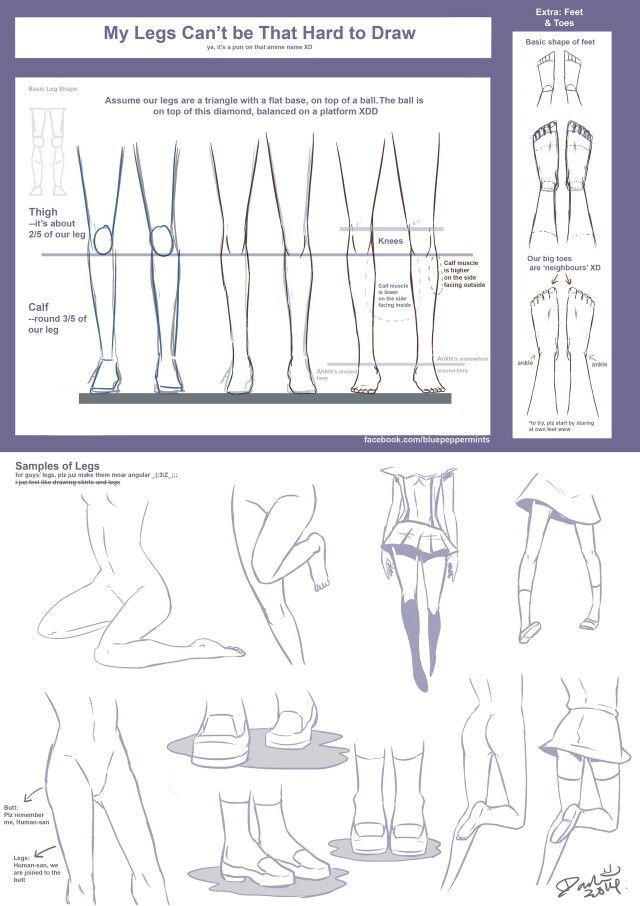 legs drawing tutorial by