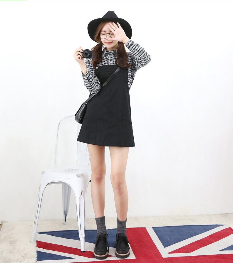 Pocket front mini jumper dress yesstyle i korean fashion pinterest jumper dress jumper Yes style japanese fashion