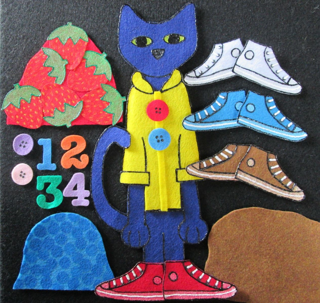 Felt Board Story Pete The Cat Series 4 Groovy Buttons I