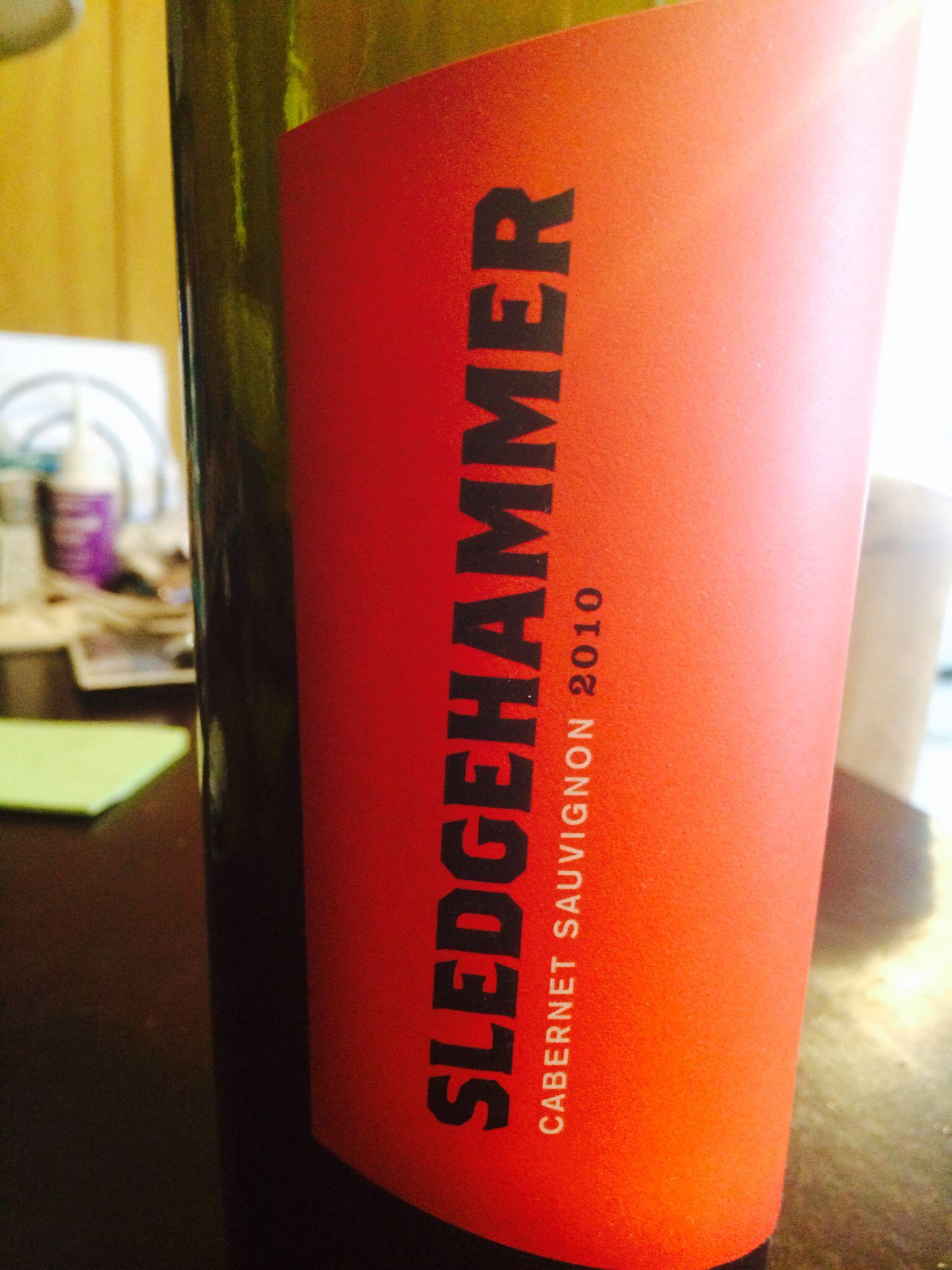 Sledgehammer Wine Label Wine Label Red Bull Energy Drinks