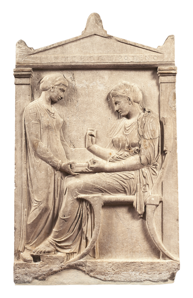 Grave stele of hegeso c 410 b c e marble and paint for Graue stuhle
