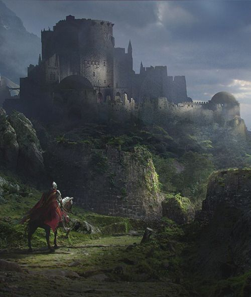 Image result for crumbling fortress painting