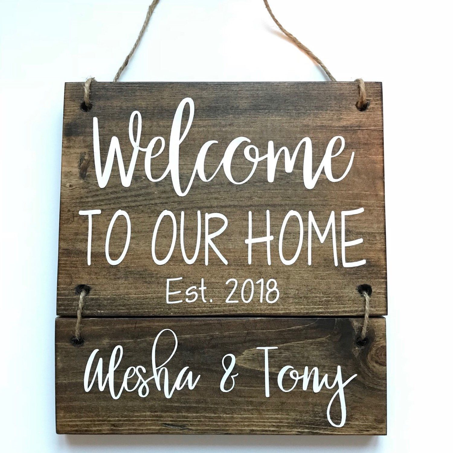Personalized Welcome Sign Welcome To Our Home Sign Family Etsy Welcome Home Signs Welcome Sign Personalized Signs