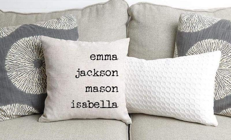 14 Personalized Gifts For Grandmothers Who Deserve The Best Mother S Day Gift Guide 2019 Personalized Throw Pillow Family Pillow Throw Pillows